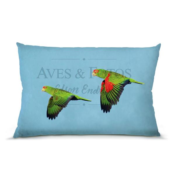 Papagaio-charão almofada 45x30cm Aves e Fotos Editora por Edson Endrigo